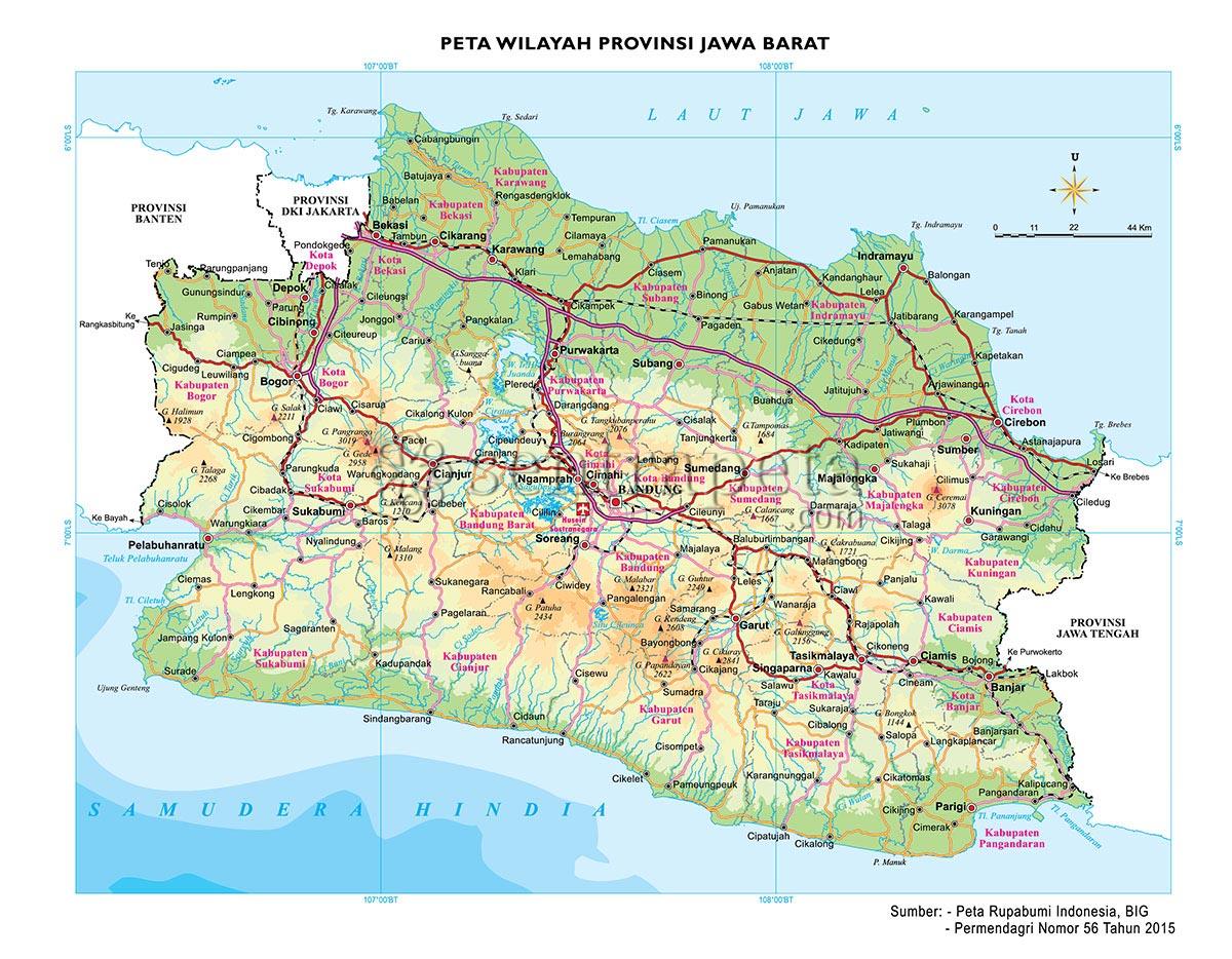 peta atlas provinsi jawa barat sentra peta