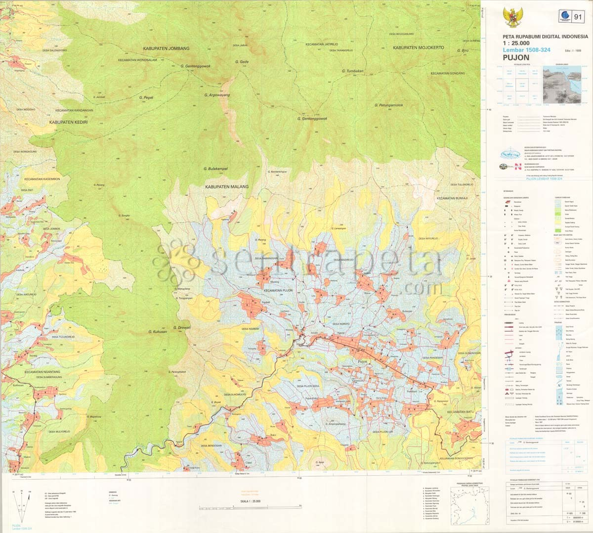 Peta Indonesia: Peta Rbi Kota Malang